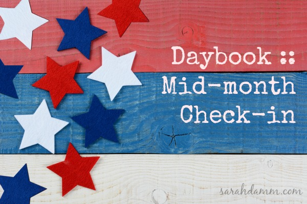 Daybook :: Mid-month Check-in | sarahdamm.com