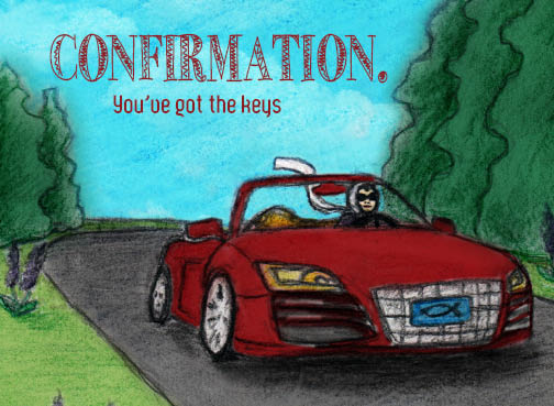 """Confirmation: You've Got the Keys"" by Blake Van Oosbree for Salutare Stationery. Used with permission."