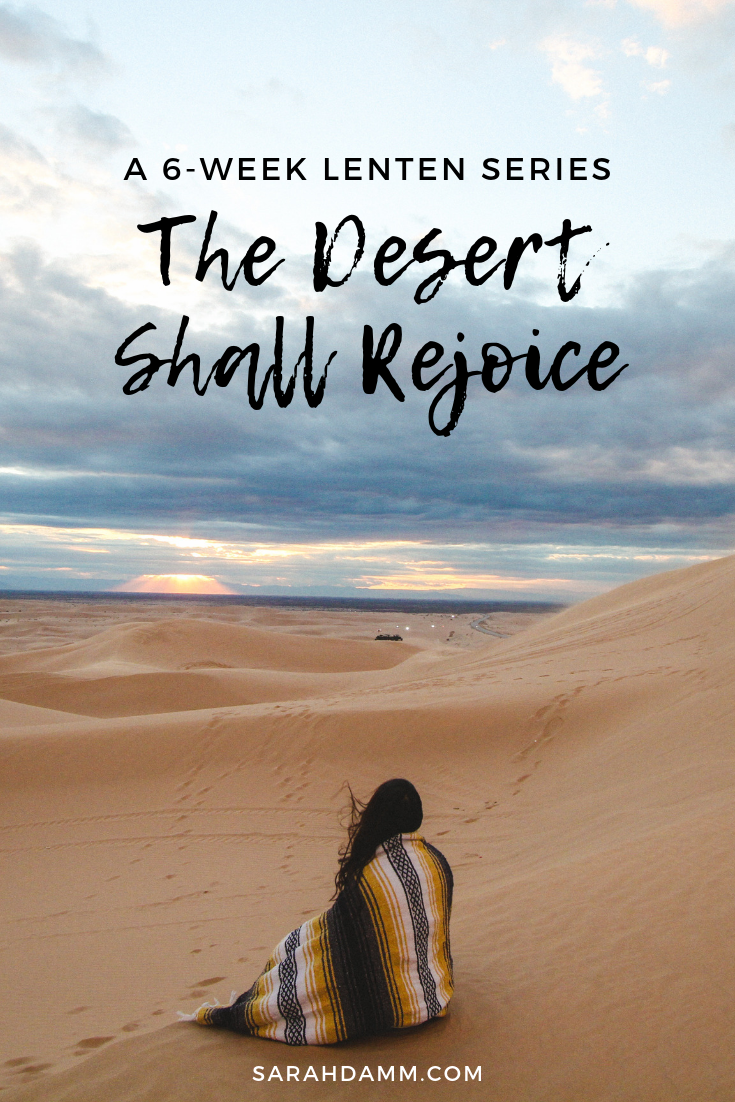 The Desert Shall Rejoice: A 6-Week Blog Series | sarahdamm.com