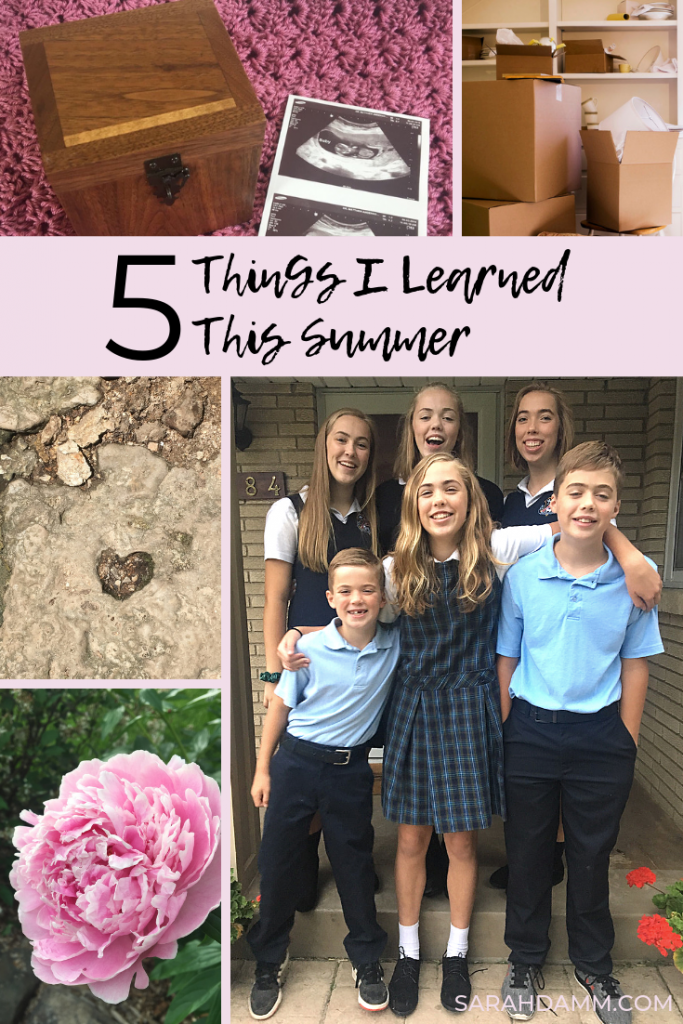 Five Things I Learned This Summer | sarahdamm.com